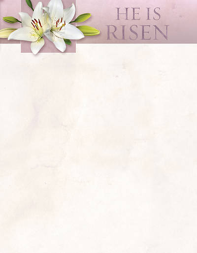 He Is Not Here For He Is Risen Easter Letterhead Pkg of 100