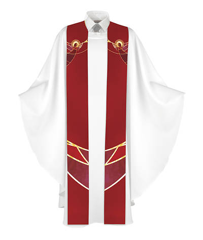 Picture of Nativity of Jesus Stole - Red