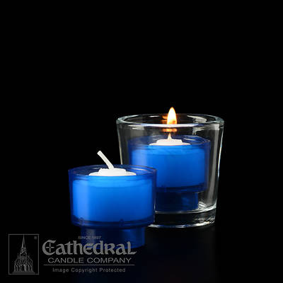 Picture of Cathedral EZ Lites 4 Hour Votive Lights - Blue