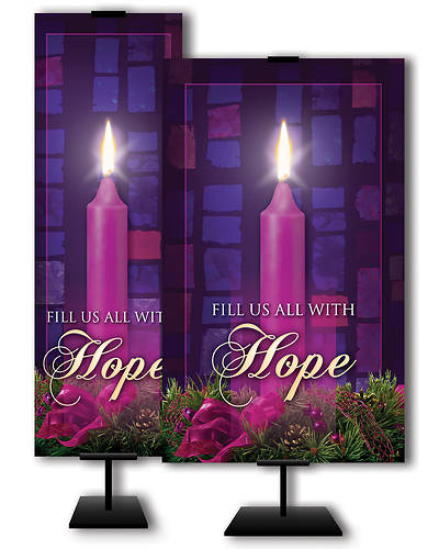 Fill Us All With Hope Advent 2x 6 Banner