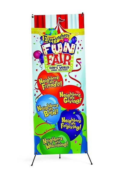 Vacation Bible School 2013 Everywhere Fun Fair VBS Theme Banner and Stand Combo VBS