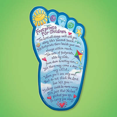 Plaque Footprints for Children