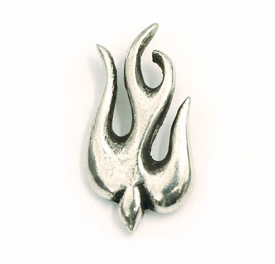Pewter Lapel Pin - Flaming Dove