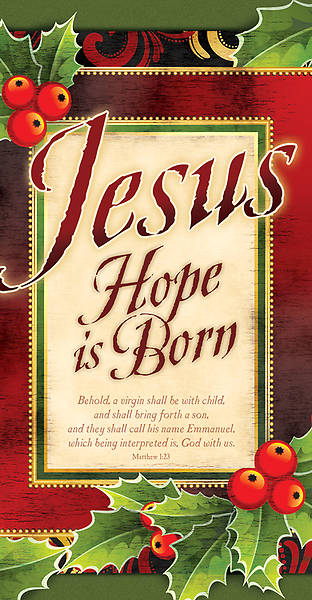 Jesus Hope is Born Christmas Offering Envelope (Package of 100)
