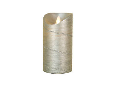 Picture of Marvelous Lights Silver Flameless Candle W/Timer 5.75""