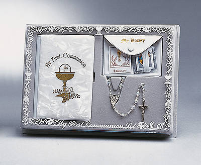 5-Pc Girl Communion Gift Set - Faux Mother of Pearl