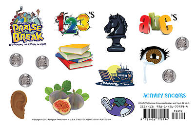 Vacation Bible School (VBS) 2014 Praise Break Activity Sticker Sheets (Pkg of 12)