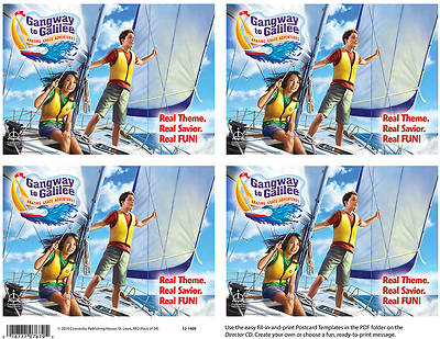 Concordia VBS 2014 Gangway to Galilee Publicity Postcards 24pk
