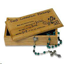 First Communion Wooden Keepsake Box