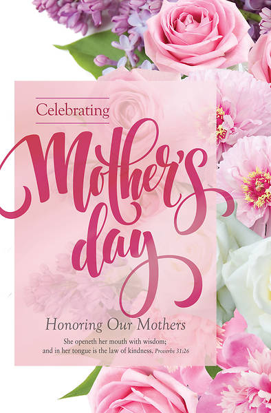 Picture of Celebrating Mother's Day Regular Size Bulletin