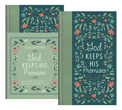 Picture of God Keeps His Promises KJV Study Bible [sage Floral]