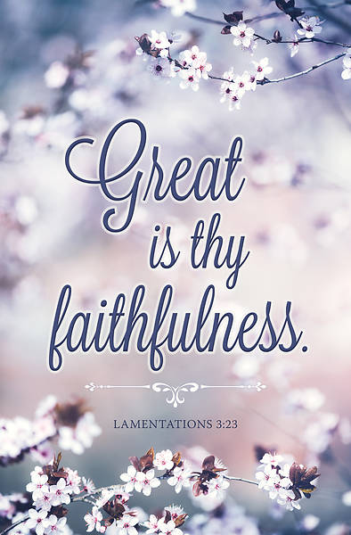 Picture of Great is thy Faithfulness General Regular Size Bulletin