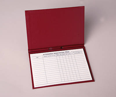 Picture of Attendance Registration Pad Holder - Red Cloth (Pkg of 3)