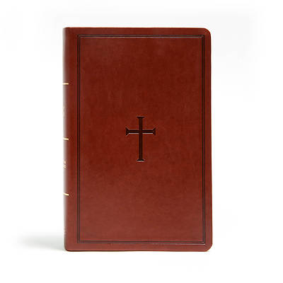 Picture of CSB Large Print Personal Size Reference Bible, Brown Leathertouch