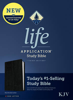 Picture of KJV Life Application Study Bible, Third Edition (Red Letter, Bonded Leather, Black)