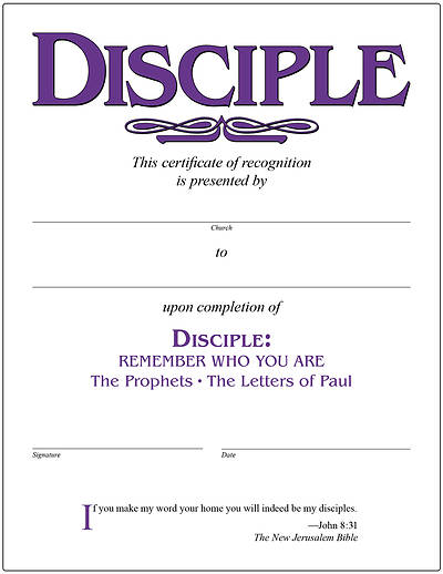 Picture of Disciple III Remember Who You Are Certificate [PDF Download]