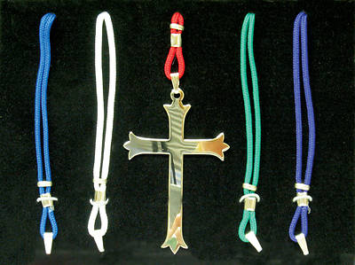 Trinity Style Cross Set with five colored cords (#4380)