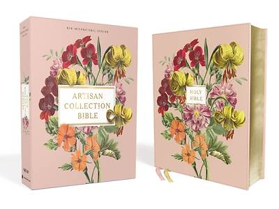 Picture of Niv, Artisan Collection Bible, Leathersoft, Blush Floral, Red Letter Edition, Comfort Print