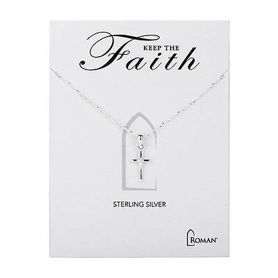 Picture of Keep The Faith  Sterling Silver Cross Necklace 18""