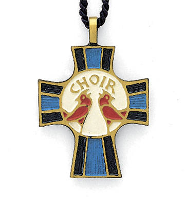Bronze Cross Choir Pendant with 33