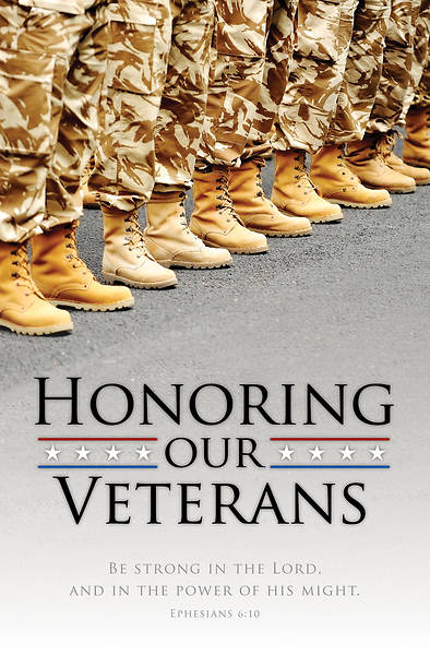 Honoring Our Veterans  Veterans Day Bulletin  Eph 6:10 Reg (Pkg of 100)