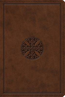 ESV Study Bible, Personal Size (Trutone, Brown, Mosaic Cross Design)