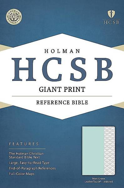 Picture of HCSB Giant Print Reference Bible, Mint Green Leathertouch, Indexed
