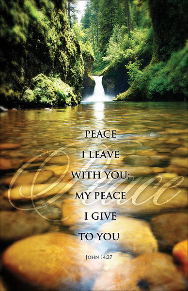 Peace I Leave With You  Bulletin Regular Package of 100