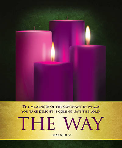 Picture of The Way Advent Candles Sunday 2 Bulletin, Large (Pkg of 50)