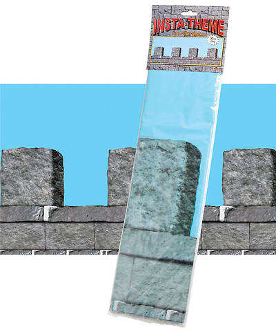 "Group VBS 2013 Kingdom Rock Stone Wall Plastic Border (20"" x 30)"