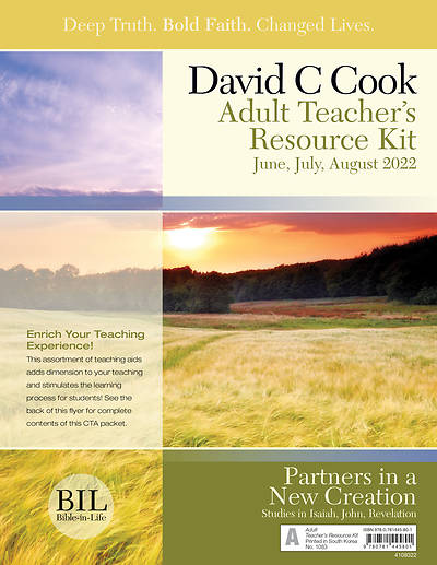 Bible In Life Adult Teacher Resource Kit Summer