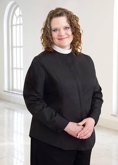 Picture of WomenSpirit Long Sleeve Shapely Shirt - Neckband Collar