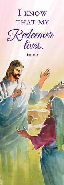 Picture of I Know That My Redeemer Lives Easter 2' x 6' Fabric Banner