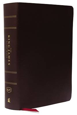 The King James Study Bible, Bonded Leather, Burgundy, Indexed, Full-Color Edition