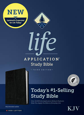 Picture of KJV Life Application Study Bible, Third Edition (Red Letter, Bonded Leather, Black, Indexed)