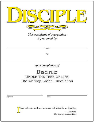 Picture of Disciple IV Under the Tree of Life Certificate [PDF Download]