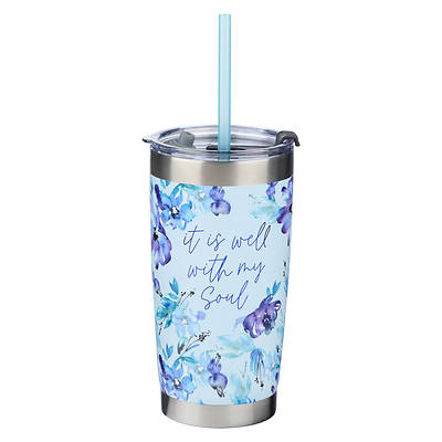 Picture of Stainless Steel Travel Mug It Is Well with My Soul