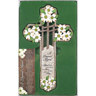 "Legend of the Dogwood 12"" Wall Cross"