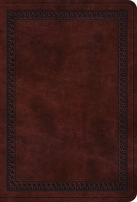 Picture of ESV Value Large Print Compact Bible (Trutone, Mahogany, Border Design)