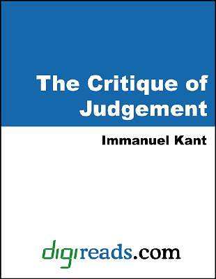 The Critique of Judgement [Adobe Ebook]