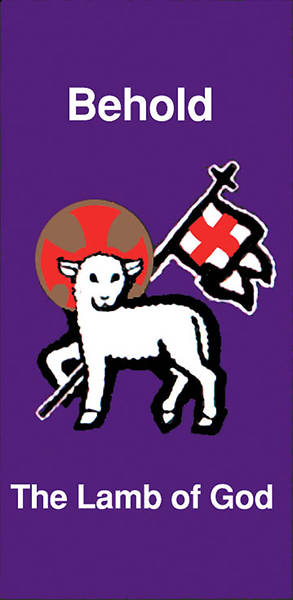 Behold the Lamb of God Banner 3 x 6