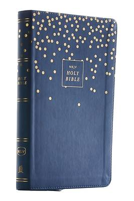 Picture of Nkjv, Thinline Bible Youth Edition, Leathersoft, Blue, Red Letter Edition, Comfort Print