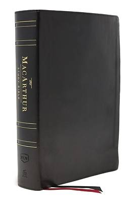 Picture of The Nkjv, MacArthur Study Bible, 2nd Edition, Genuine Leather, Black, Thumb-Indexed, Comfort Print