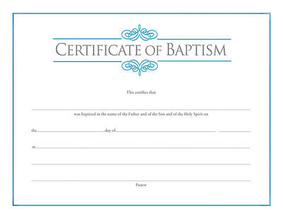 Picture of Baptism Certificate