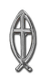 Fishermans Cross Pewter Lapel Pin