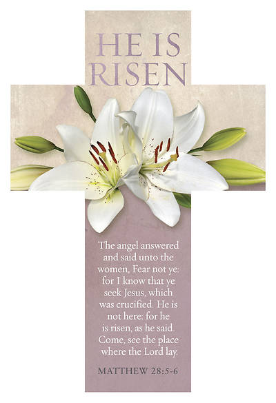 He Is Not Here, For He Is Risen Cross Bookmark