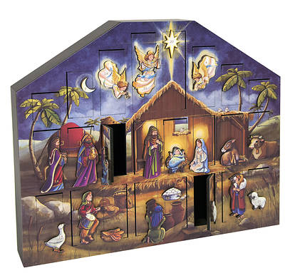 Wooden Musical Nativity  Advent Calendar