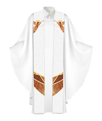 Nativity of Jesus Stole - White
