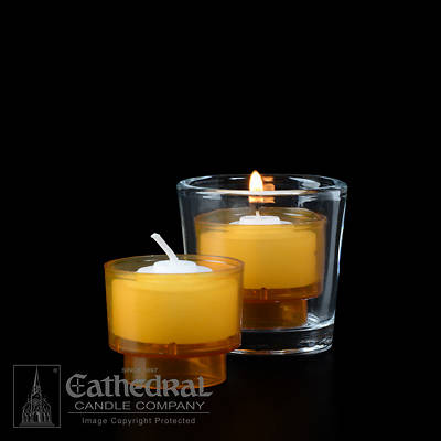 Picture of Cathedral EZ Lites 4 Hour Votive Lights - Amber