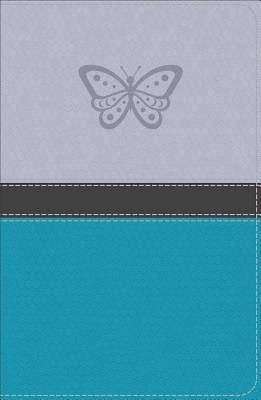 KJV Study Bible for Girls Silver/Teal, Butterfly Design Leathertouch